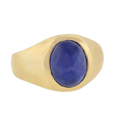 Victorian 14kt Sapphire Cabochon Ring