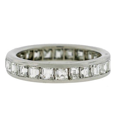 Art Deco Platinum & Diamond Eternity Band 2.23ct