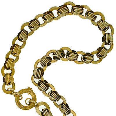 Victorian 15kt Yellow Gold Chain Necklace