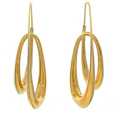 MICHAEL GOOD Contemporary 18kt Gold Double Loop Earrings
