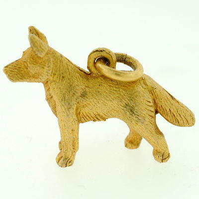 Vintage English 9kt Yellow Gold Hunting Dog Charm