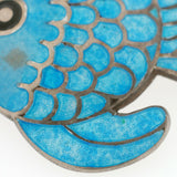 MARGOT DE TAXCO Sterling Silver & Enamel Fish Pin