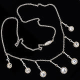 Edwardian Platinum & Diamond Festoon Necklace 3.37ctw
