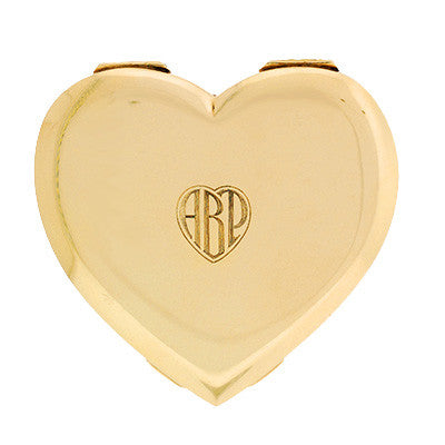 Retro Huge 14kt Tiffany Heart Compact