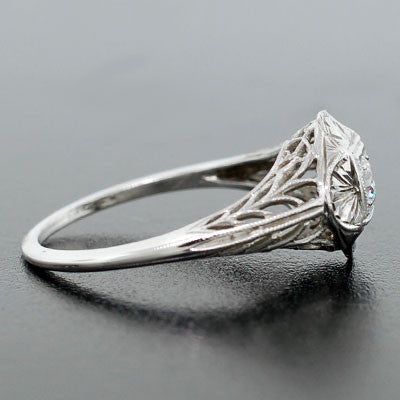 Art Deco 18kt Diamond Engagement Ring .15ct