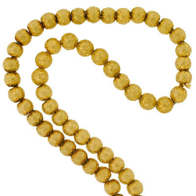 Victorian 14kt Gold Etruscan Beaded Necklace