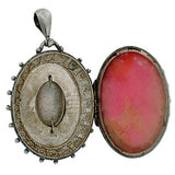 Victorian English Sterling Silver Etruscan Locket