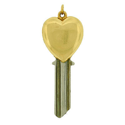 Late Retro 14kt Key to My Heart Double Locket Pendant