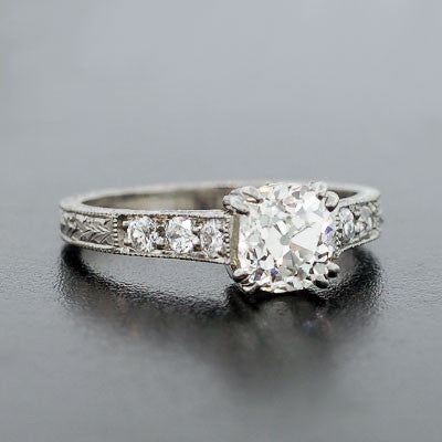 Art Deco Style Platinum & Diamond Engage Ring 1.15ct