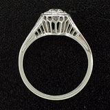 Art Deco 18kt Diamond Engagement Ring .27ct