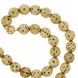 Late Victorian Hand Carved Bone Bead Necklace