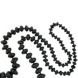 Victorian Large Graduated Whitby Jet Beads