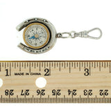 Victorian Sterling Silver Horseshoe Compass Pendant