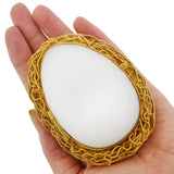Victorian French Brass Gilt + White Satin Opaline Glass