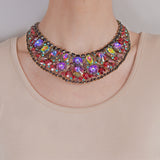 JULIANA  Vintage Large Multi-Crystal Bib Necklace