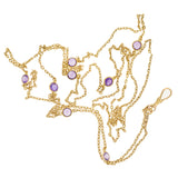 Art Nouveau 14kt Amethyst Chain Necklace 52
