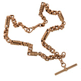 Victorian 9kt Rose Gold Chunky Watch Chain Necklace 16.75