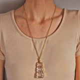 Late Victorian Large 18kt Carved Rock Crystal Fob Pendant