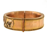 Victorian Gold-Filled Etruscan Bangle Bracelet