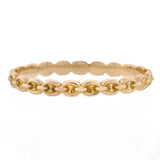Edwardian 9kt Anchor Link Bangle Bracelet 6.7dwt