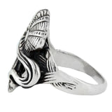 Art Nouveau Style Sterling Silver Lady in Profile Ring