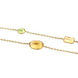 Estate 14kt Multi-Gemstone Chain Necklace 36