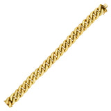 Estate 14kt Etched Curb Link Chain Bracelet 23.5dwt