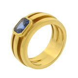TIFFANY & CO. Vintage 18kt Sapphire Wide Band Ring 1.00ctw