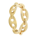Estate 18kt Gucci Style Anchor Link Chain Ring 2.2dwt