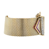 Retro 14kt Ruby + Diamond Adjustable Buckle Bracelet