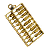 Vintage 14kt Moveable Miniature Abacus Charm