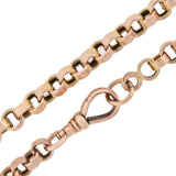 Victorian 14kt Rose Gold Link Chain Necklace 19.25