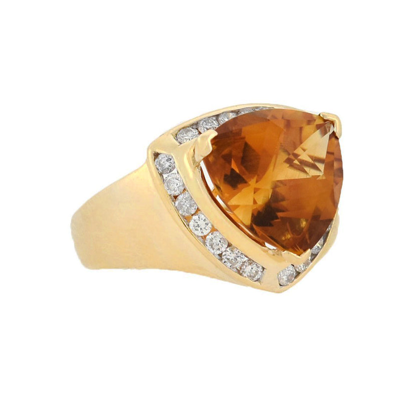 NEILS ERIK FROM Vintage Sterling Amber Ring