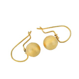 Victorian 14kt Petite Brushed Gold Ball Earrings