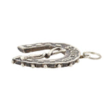 Victorian Sterling Horseshoe + Riding Crop