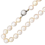 Estate 9mm Pearl Necklace + 14kt Clasp 18