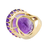 Retro Large 14kt Amethyst Cocktail Ring 50.00ctw