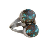 Vintage Signed Native American Sterling Turquoise Ring