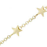 Estate 14kt Yellow Gold Star Motif Chain Necklace 46