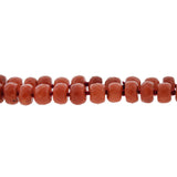 Vintage 14kt Natural Faceted Coral Bead Necklace 19.5
