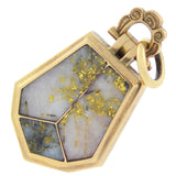 Victorian 15kt Inlaid Gold Quartz Locket