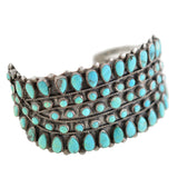 Native American Begay Sterling Turquoise Cuff Bracelet