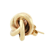 Retro 14kt Gold Love Knot Stud Earrings
