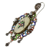 Arts + Crafts Hungarian Large Sterling Jasper + Enameled
