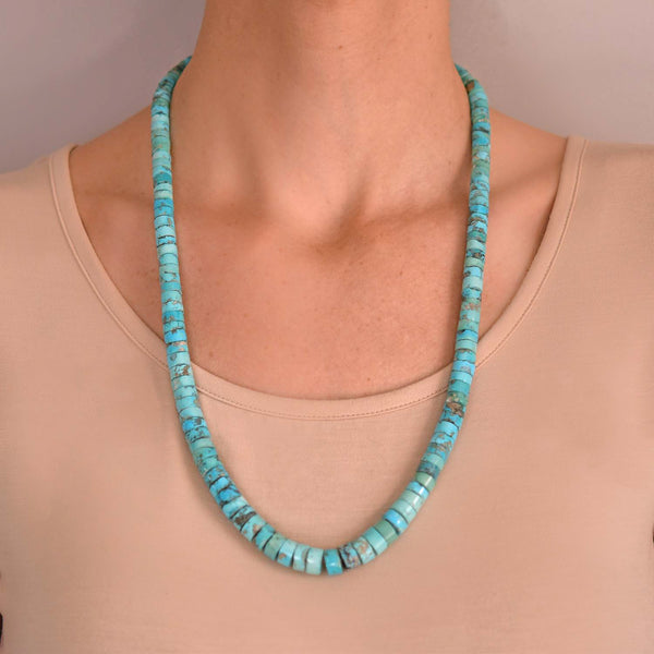 Turquoise Rondelle Necklace