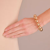 Vintage Large 14kt Yellow Gold Ball Bracelet 23.4dwt