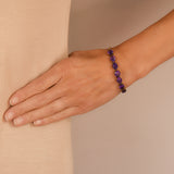 Retro 14kt Faceted Amethyst Link Bracelet