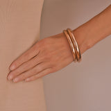 Victorian 9kt Rose Gold Bangle Bracelet 2 Piece Set