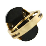 Vintage 14kt Carved Onyx + Diamond Ring
