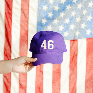 "Purple ""46"" Dad Hat"